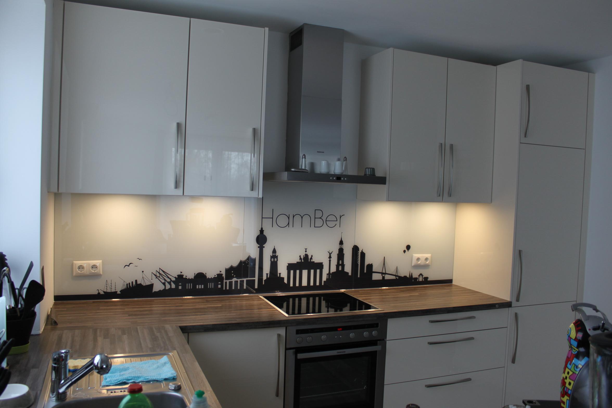 Küchenrückwand aus Glas mit Fotodruck - Eigenes Motiv ...