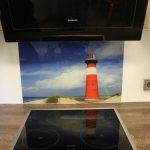 Küchenrückwand mit Fotodruck Leuchtturm