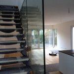 Festverglasung mit Manet Haltern am Treppenaufgang