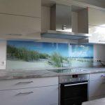 Küchenrückwand aus Glas mit Fotodruck Düne