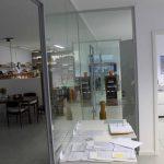 Ganzglasanlage mit Zargen - Zwischenwände
